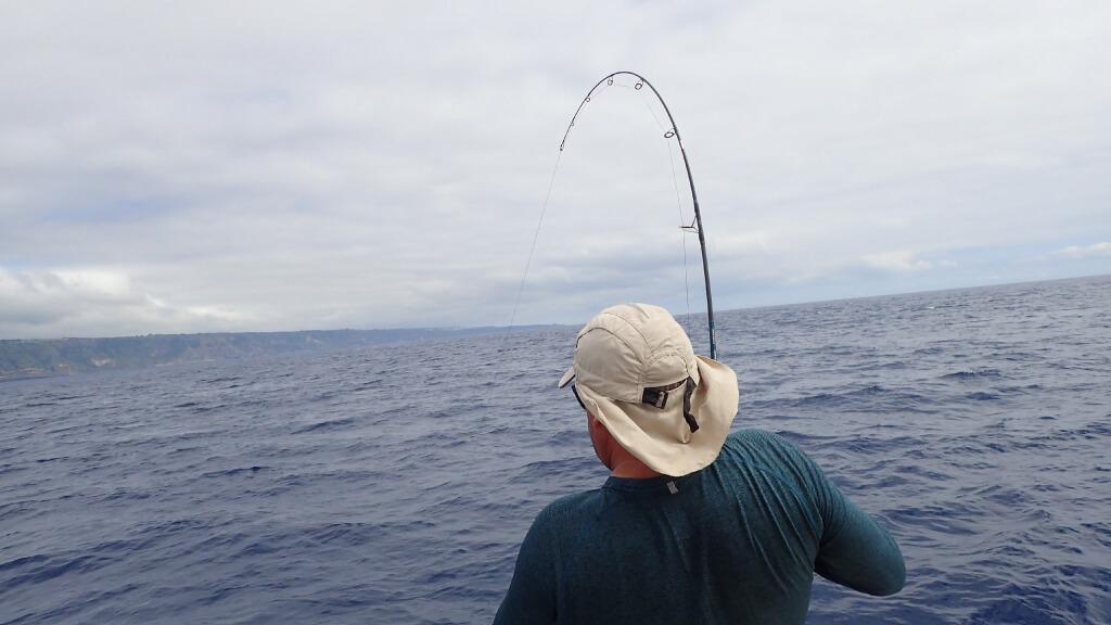 Pesca rija na Ilha de São Miguel.
