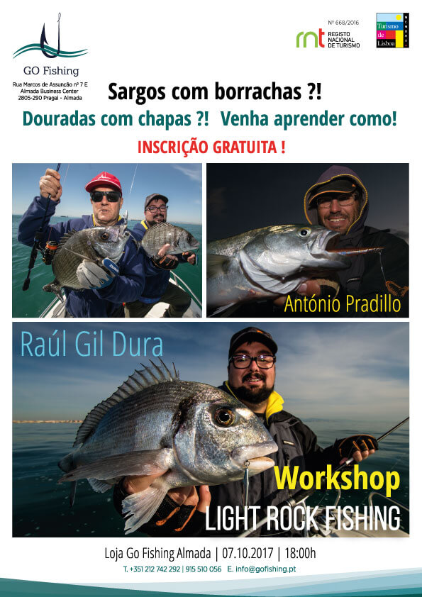 Workshop de pesca com António Pradillo e Raul Gil Dura, na Go Fishing.