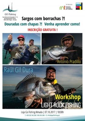 Atelier de pêche avec António Pradillo et Raul Gil Dura, à Go Fishing.