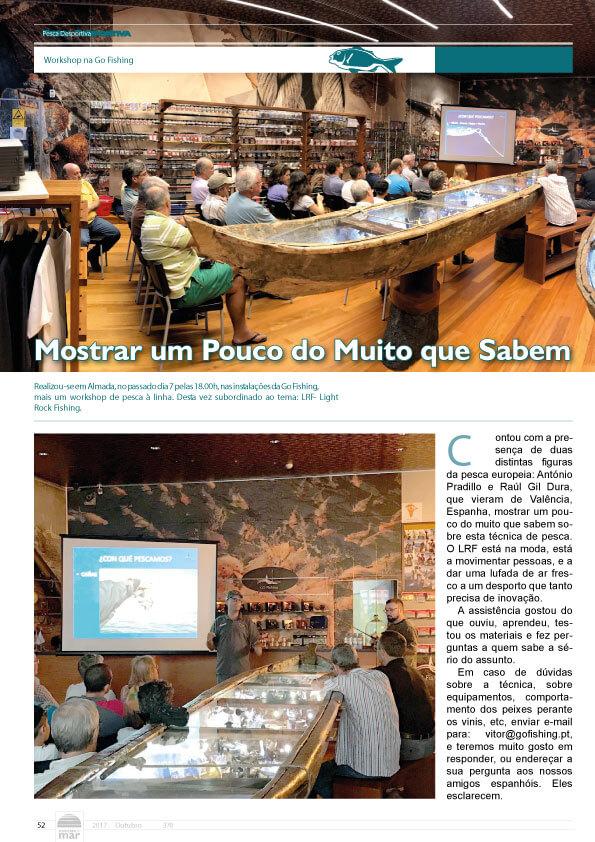 Publicação no Jornal Notícias do Mar - Mês de Outubro