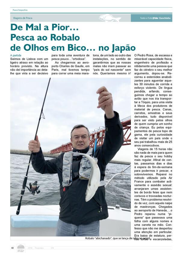 De mal a pior... Pesca ao Robalo de Olhos em bico...no Japão