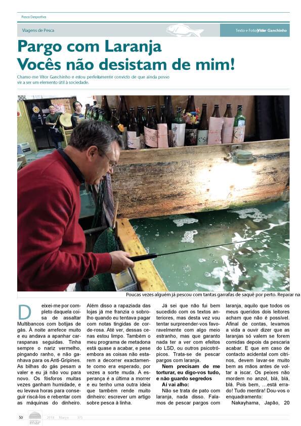Artigo Go Fishing nas notícias do Mar no mês de Março