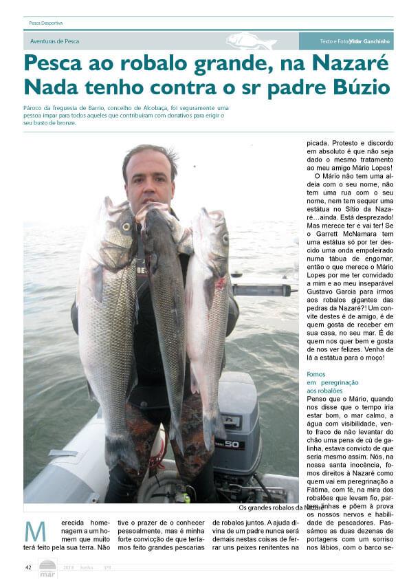 Artigo Go Fishing no Jornal notícias do Mar no mês de Junho 2018