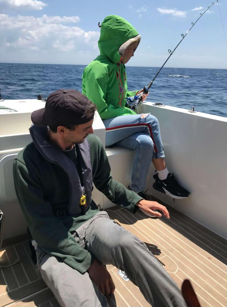 Norwegian couple fishing with GO Fishing