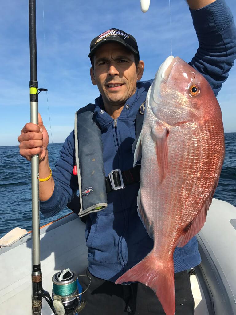 Luis Lemos à bord de Go Fishing