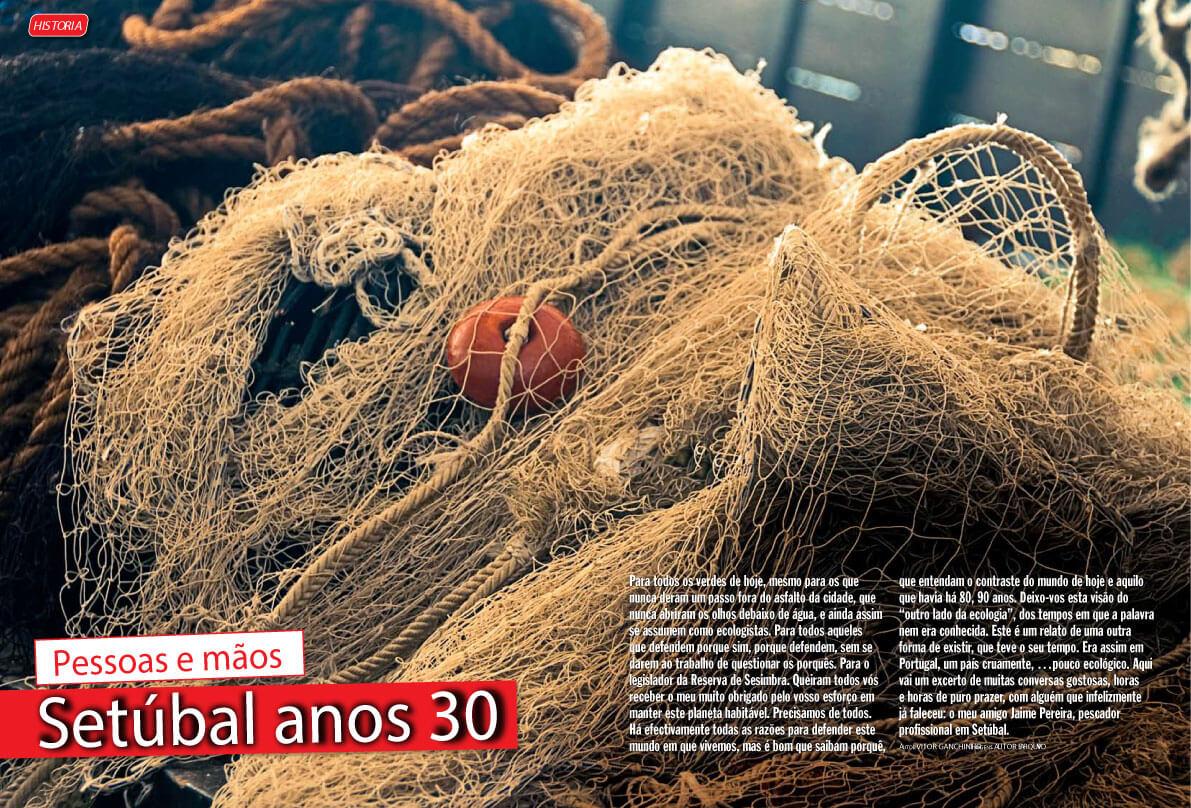 """Artigo na revista Mundo da Pesca \\\""""Setúbal anos 30 - Pessoas e mãos \\\"""""""