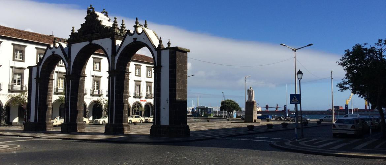 Centro da cidade da Ilha de São Miguel, Açores