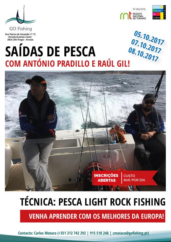 Saídas de pesca com os melhores da Europa. Venha connosco! Inscreva-se Já!